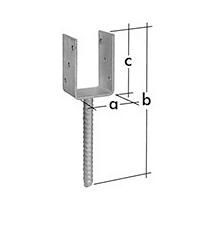 Основание столба PSP 100 прямоугольное