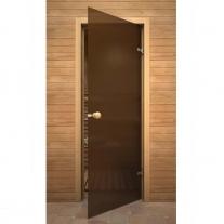 Дверь для  сауны,  стекло / ольха